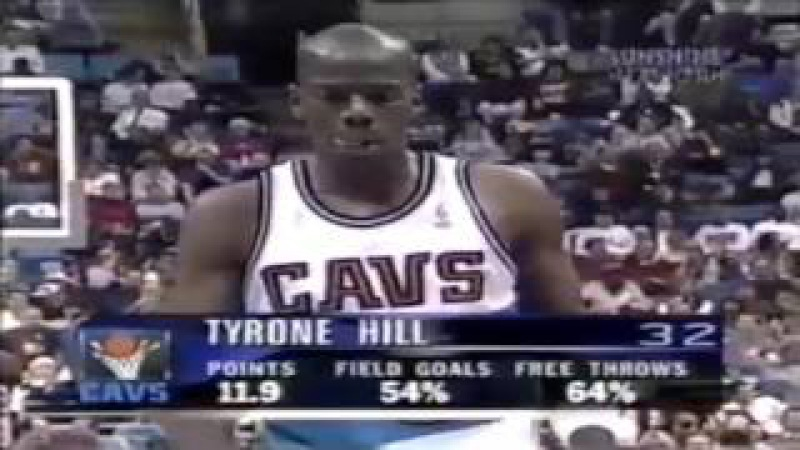 Tyrone Hill (15 pts) ● Miami Heat 76:74 Cleveland Cavaliers ● NBA 10/12/1996