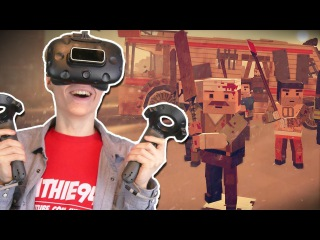 THE WALKING DEAD IN VIRTUAL REALITY | Out of Ammo VR: Death Drive (HTC Vive Gameplay) Part 1