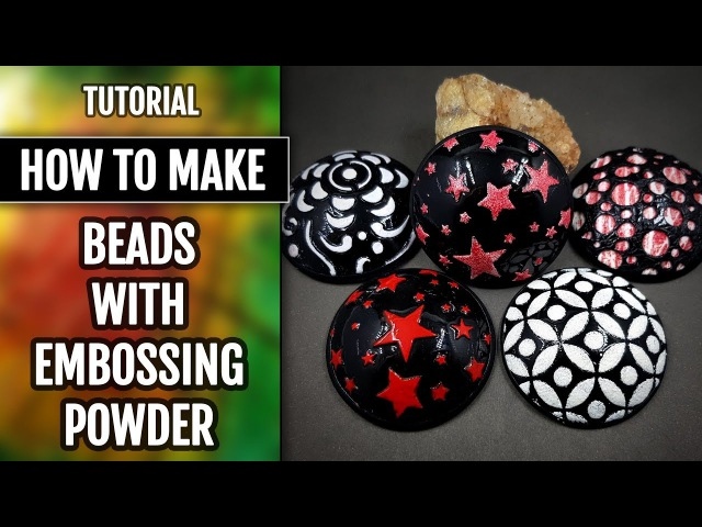 How to Make Beads by Using the Low-Temp Enamel or Embossing Powder!