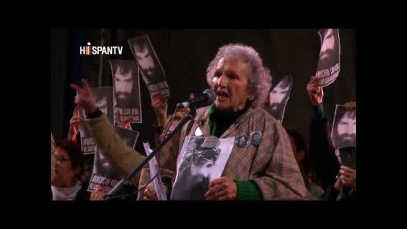Protestan en Argentina por la desaparición de un joven activista
