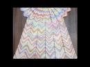 Летнее цветное платье 3 5 лет 1 часть Кокетка Knit a beautiful dress hook