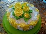 Торт рецепт бисквита ШОКОЛАД на КИПЯТКЕ  Украшаем торт кремом Cake decoration