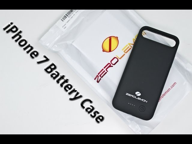 IPhone 7 - ZeroLemon 4000mAh Battery Case Review! (with drainage test)
