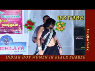 Hottest Indian women in black Sharee | Hottest Indian women with hot navel | Hot Indian women