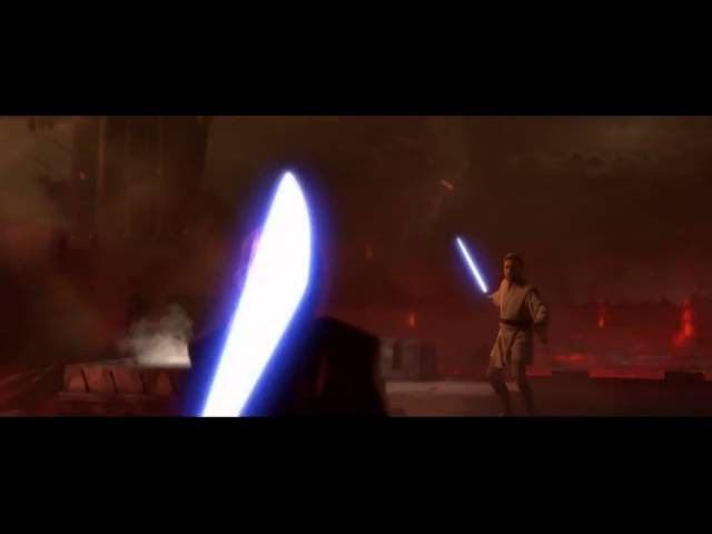 Оби Ван Кеноби против Энакина Скайуокера- Дарта Вейдера.