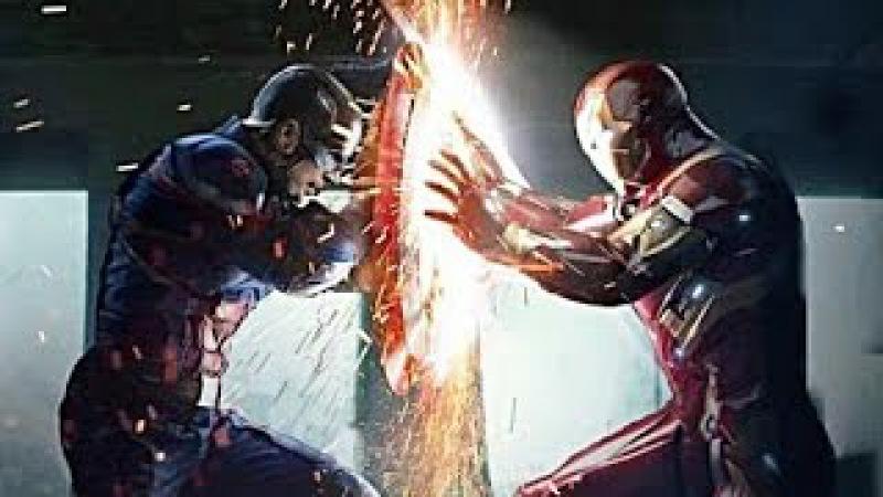 Capitão América e Bucky vs Homem de Ferro DUBLADO HD   Capitão América Guerra Civil (2016)