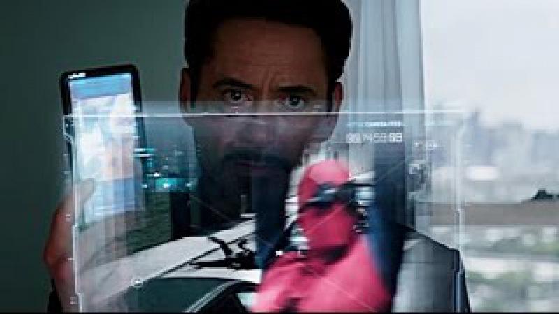 Tony Stark conversa com Peter Parker DUBLADO HD   Capitão América Guerra Civil (2016)