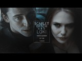 scarlet witch &amp loki king and queen of the chaos