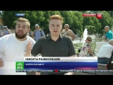 ВДВшник ударил коресспондента Канала НТВ в Прямом Эфире.