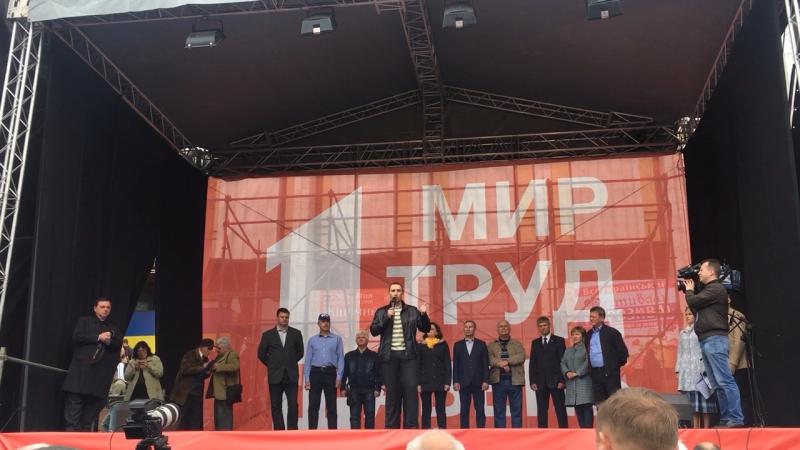 Виступ А. Гаврушкевича на першотравневій демонстрації