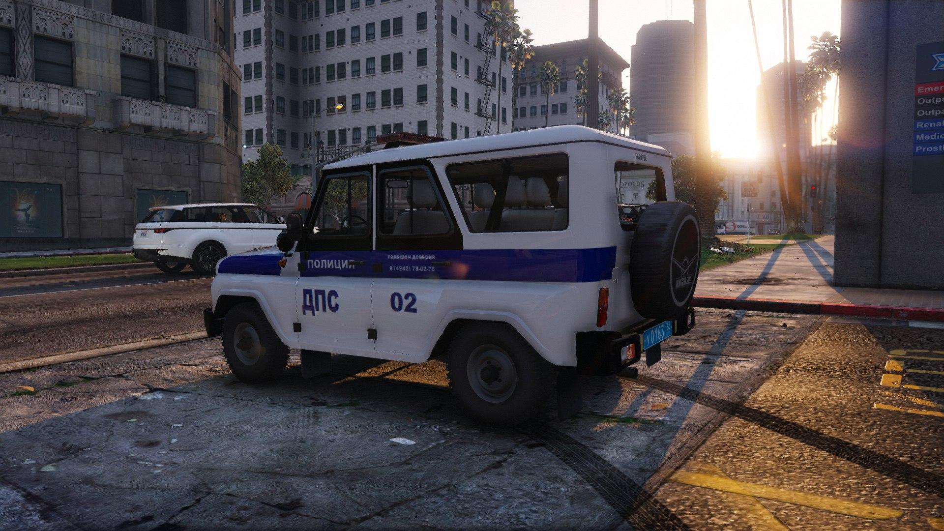 УАЗ Хантер - ДПС для GTA V - Скриншот 1