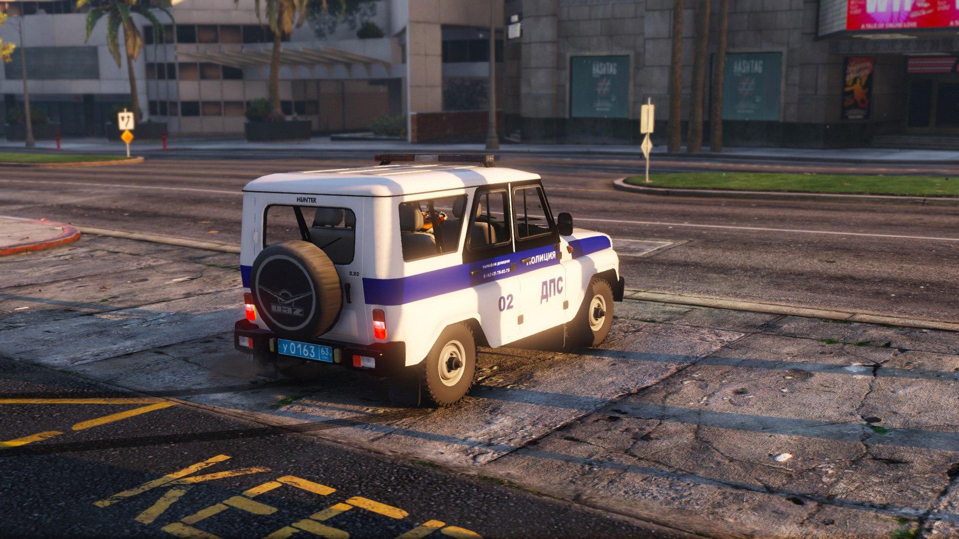 УАЗ Хантер - ДПС для GTA V - Скриншот 3