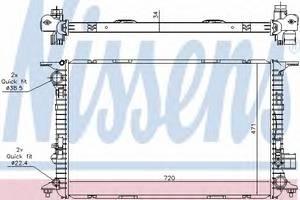 Радиатор, охлаждение двигателя для AUDI A8 (4H_)