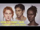 HOW TO PAINT SKIN Live Portrait Demo