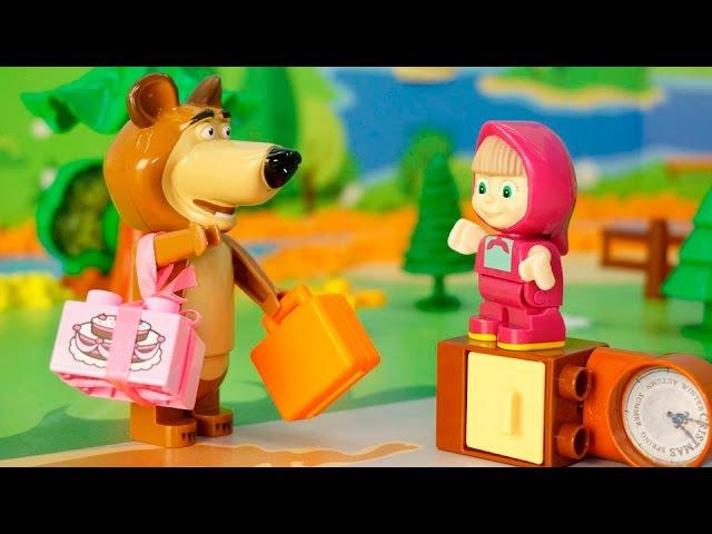 Видео про игрушки Маша и Медведь - Одна дома.