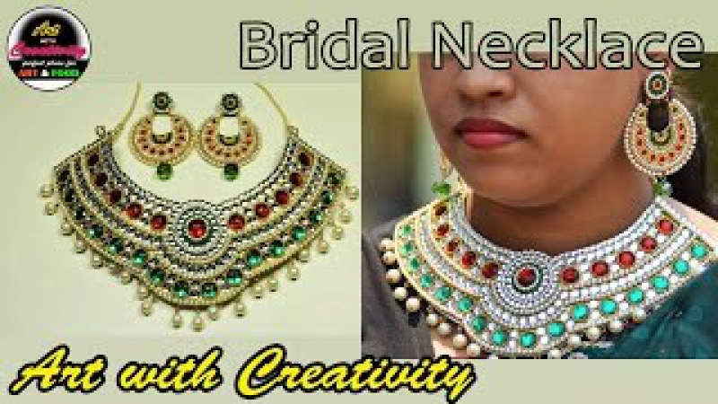 Paper Bridal NECKLACE | Made up of paper | Art with Creativity 181