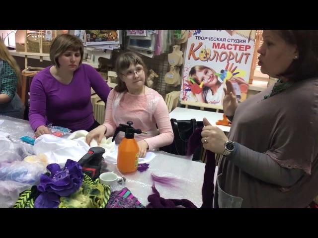 Мастер класс цветок шарфик из шёлка