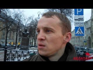 Активисты оппозиции вывесили бело-красно-белые флаги на проспекте Независимости в Минске Белапан