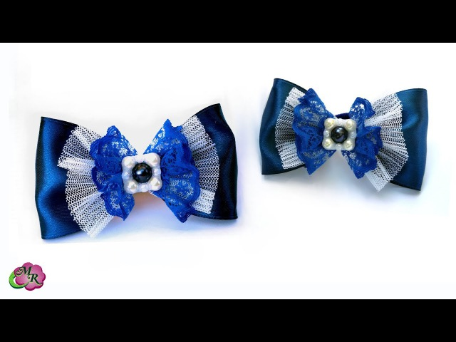 Супер легкий бантик в школу. Канзаши МК/ DIY Very easy bow to school
