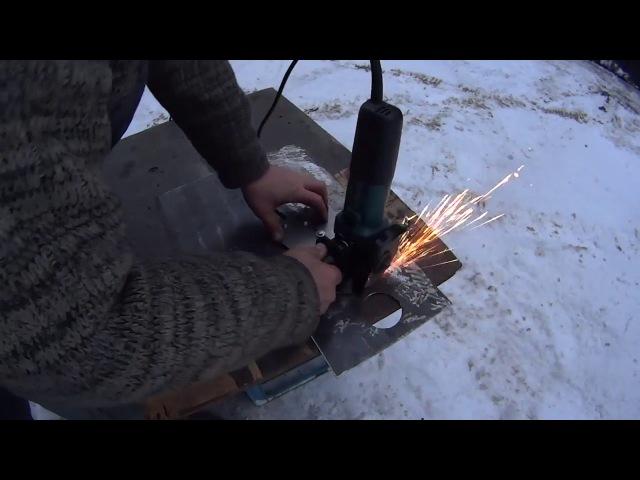 59. Как вырезать круглое отверстие в металле болгаркой. Циркульное приспособление 59. rfr dshtpfnm rheukjt jndthcnbt d vtnfkkt ,