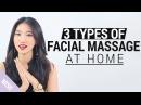 Korean V line Massage 3 Types of Facial Massage at Home Wishtrend TV