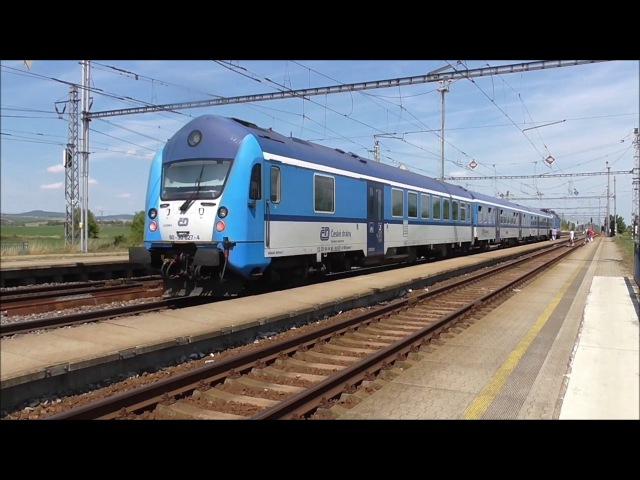 Šocení | Vlaky ve stanici Nedakonice 31.7.2017