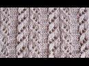 Японский ажурный узор Вязание спицами Видеоуроки