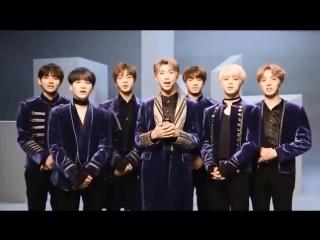 [BTS] Приветствие на японском и о релизе сингла