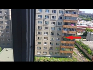 Падение с балкона, прием паука и показ сисек (неудачный) ;D [LMAO]