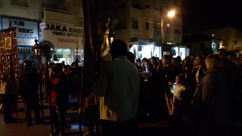 Крестный ход с Плащаницей (Эпитафия) 2017 Кипр