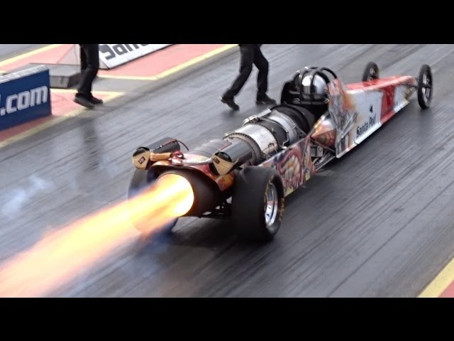 FireForce 5 Jet Car at Santa Pod Raceway - 1/4 Mile 5.07 @ 298mph