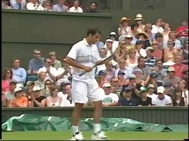Wimbledon 2001 Pete Sampras vs Roger Federer
