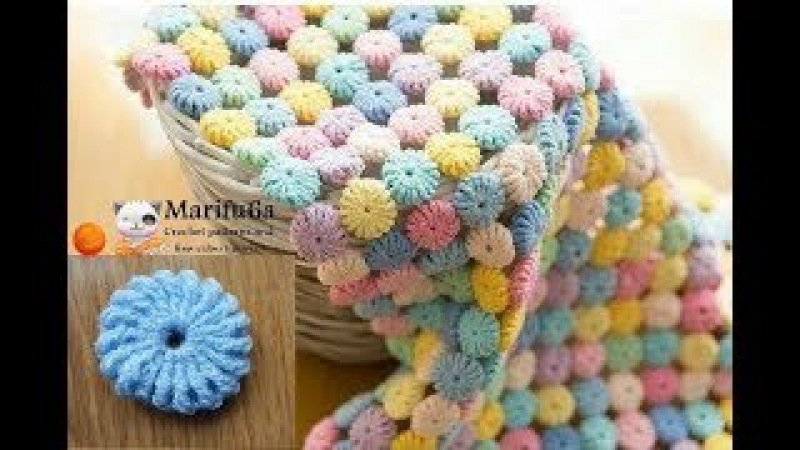How to crochet circle afghan blanket free easy pattern tutorial for begginer