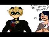 Леди баг и Суперкот комиксы | Чёрный-Кот играет в куклы :D