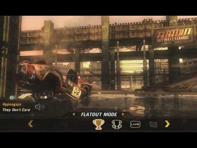 FlatOut: Ultimate Carnage (2008) - main menu   Hypnogaja - They Don't Care [Full HD]