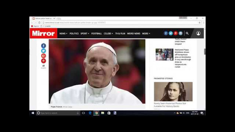 PizzaGate Update: Vatican Police Shut Down Sex Orgy at Pope Francis Advisor's Home