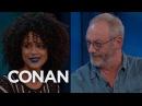 Nathalie Emmanuel Liam Cunningham Talk Nude Scenes - CONAN on TBS