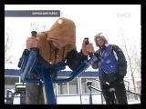 14.04.2017 Студенты вышли на тренировку по воркауту в апрельский снегопад