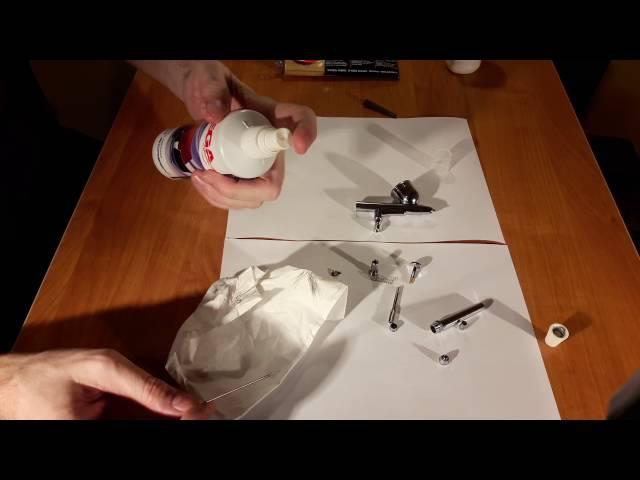 Аэрограф 2 Смазка, настройка, полировка иглы