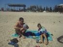 пляж на море в Геническе