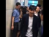 2017/08/23 Ю Сын Хо в Nonghyup Bank в качестве модели рекламы NH Credit Card (3)