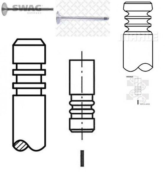 Впускной клапан для AUDI CABRIOLET (8G7, B4)