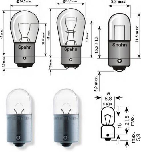 Лампа накаливания, фонарь указателя поворота; Лампа накаливания для AUDI COUPE (89, 8B)