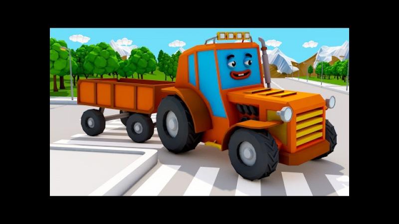 Traktor und Bagger - Bauen - Autos für Kinder - Animierter Zeichentrick in Deutsch