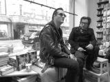 Jyrki Linnankivi &amp Jonathan Shaw at Nide bookstore kirjakauppa Helsinki