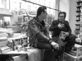 Jyrki Linnankivi &amp Jonathan Shaw at Nide bookstore 3 Helsinki