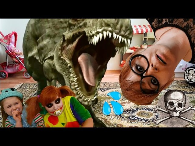 BAD JOKER Гигантский Динозавр Напал на Детей GIANT DINOSAUR Attacked Kids