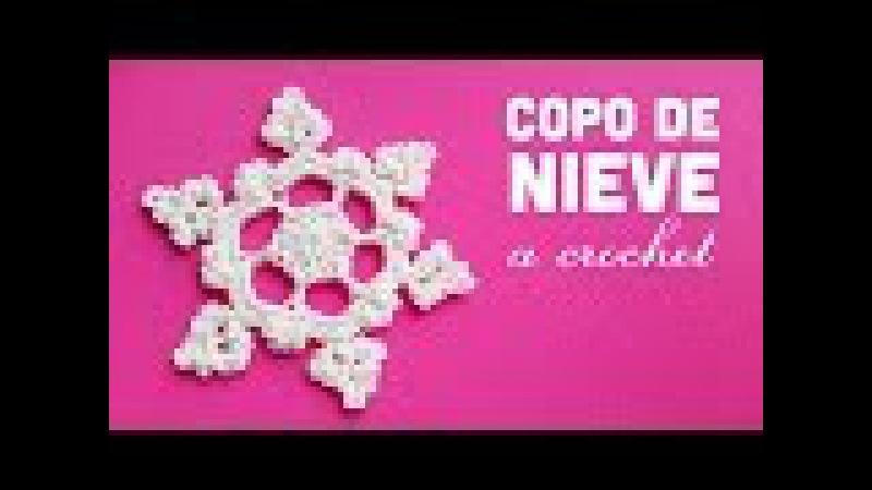 NAVIDAD   Copo de Nieve a Crochet ··· XMAS   How to crochet a Snowflake