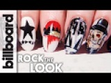 Grammy Nominated Album Cover Nail Art ft. Maria Salandra  Billboard Rock The Look