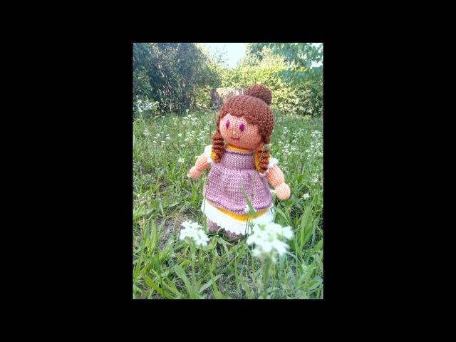 МК куколка Анабель спицами (часть ІІІ)